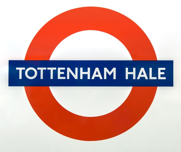 Tottenham Hale Tube Sign