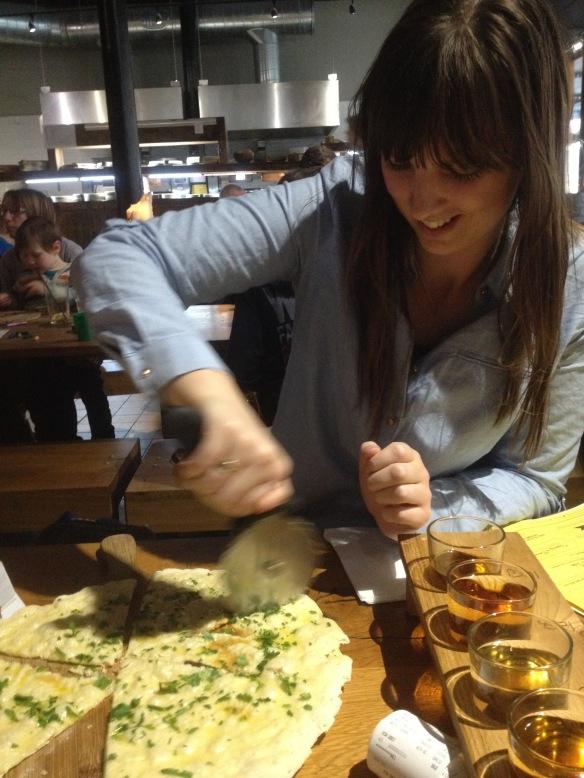 Garlic bread at The Stable, Bristol